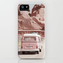 Pastel Pink Van Grand National Park iPhone Case