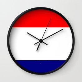 Flag of Netherlands 2 -pays bas, holland,Dutch,Nederland,Amsterdam, rembrandt,vermeer. Wall Clock