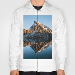 Calm Mountain Lake at Sunset - Landscape Photography Hoody