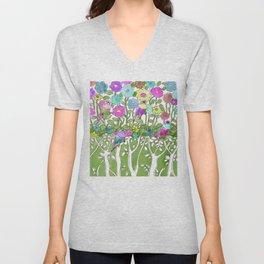 Birds among the trees #1 Unisex V-Neck