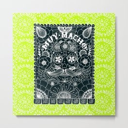 Muy Macho Neon Metal Print