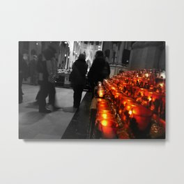 Light A Candle For The Loved And Lost Metal Print