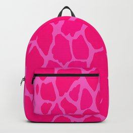 Pink Giraffe Skin Backpack