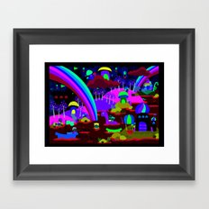 rainbow land Framed Art Print