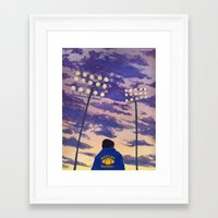 friday night lights Framed Art Prints featuring Friday Night Lights by colleentighe