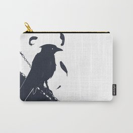 Raven on a Wire Carry-All Pouch