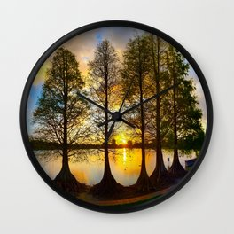 A Lakeland Sunset Wall Clock
