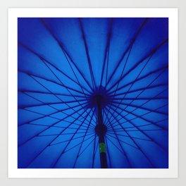 Blue Umbrella: You make me feel... Art Print