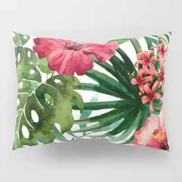 FLOWERS WATERCOLOR 8 Pillow Sham