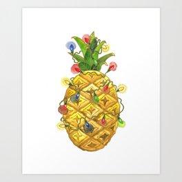 The Christmas Pineapple Art Print