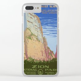 Vintage poster - Zion National Park Clear iPhone Case