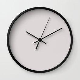Pearl. Monotone light pinkish grey. Wall Clock