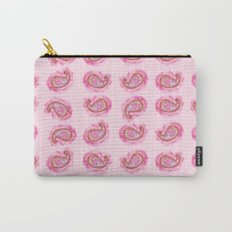 Paisley Watercolor in Rose Pink Carry-All Pouch