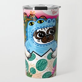 What Came First The Pug Or The Egg? Travel Mug
