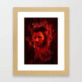 Lucifer in flames Framed Art Print