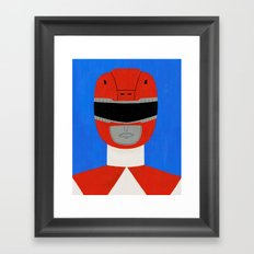 Red Ranger Framed Art Print