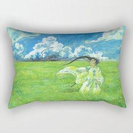 August - Indication of rain - Rectangular Pillow