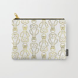 Mr Pecker Art Gold Member Carry-All Pouch