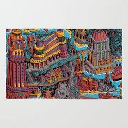 Mumbo Jumbo City (Color) Rug