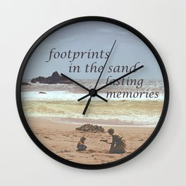 Footprints in The Sand Wall Clock