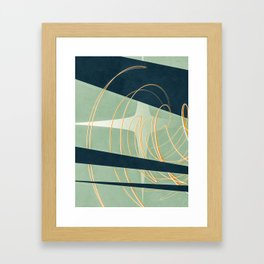 back row star Framed Art Print