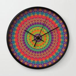 Mandala 458 (NEON) Wall Clock