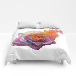 vibrant rose Comforters