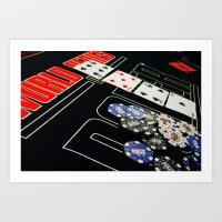poker Art Prints featuring poker by yahtz designs