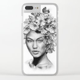 Gigi's flowers Clear iPhone Case