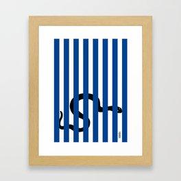 Striped Viper Framed Art Print