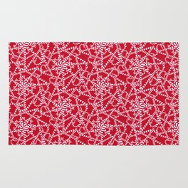 Candy cane flower pattern 2a Rug