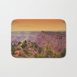 Grand Canyon before sunset. Bath Mat
