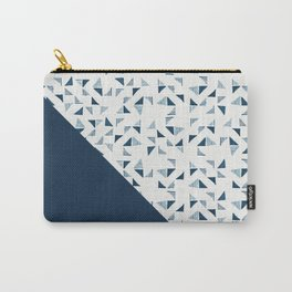 Indigo Triangles #society6 #pattern #indigo Carry-All Pouch