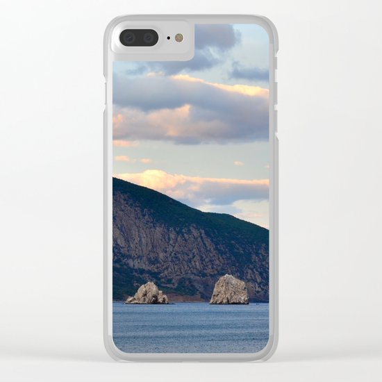 Mountain landscape Clear iPhone Case