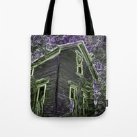 scary Tote Bags featuring Scary Night by MehrFarbeimLeben