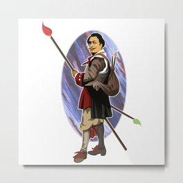 Painter Knights - Dalì Metal Print