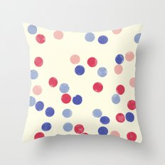 WATERCOLOR CONFETTI Throw Pillow