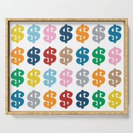 Colourful Money 48 Serving Tray