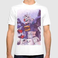 Gundam GP01 White Mens Fitted Tee 2X-LARGE