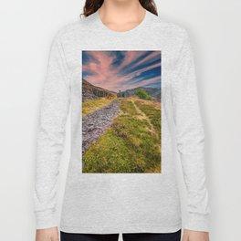 Quarry Sunset Snowdonia Long Sleeve T-shirt