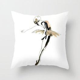 Ballet Dance Drawing Throw Pillow