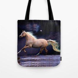 horse galloping Tote Bag