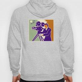 Cameraman Film Crew Vintage Video Movie Camera Hoody