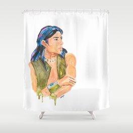 Wintun Boy Shower Curtain