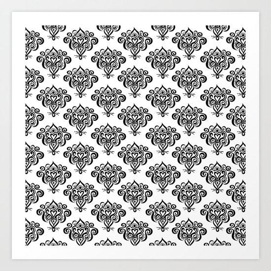 Bound heart pattern Art Print