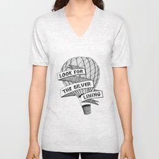 Look for the silver lining Unisex V-Neck
