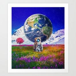 The World Behind Art Print