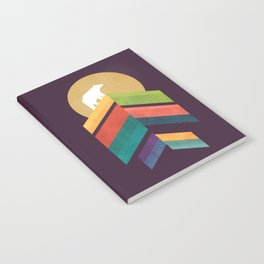 Lingering mountain with golden moon Notebook