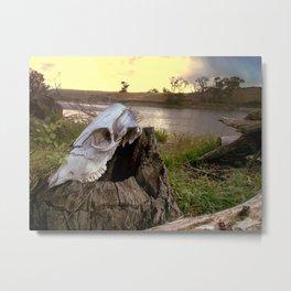 Trail Marker Metal Print