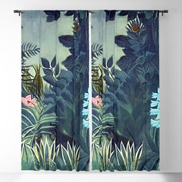 The Equatorial Jungle with Lions by Henry Rousseau Blackout Curtain